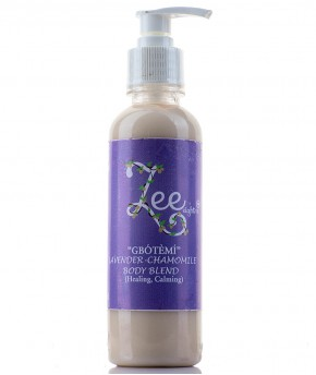 ZEEEIGHT12  'GBOTEMI' LAVENDER AND CHAMOMILE BODY BLEND 250ml