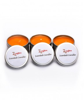 TIN CUP ORANGE SCENTED CANDLE 150g